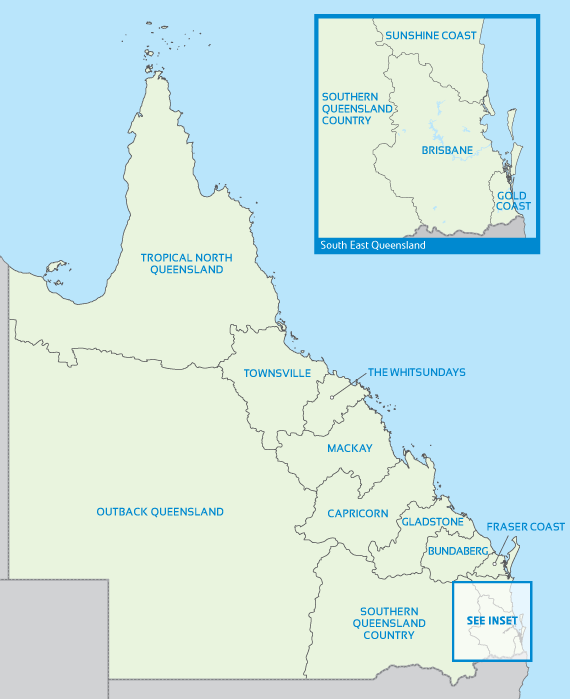 Queensland Destinations Map
